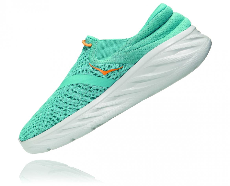 Hoka Ora Recovery Shoes 2 נעלי גרב גברים אורה 2 בצבע טורקיז/כתום – #4