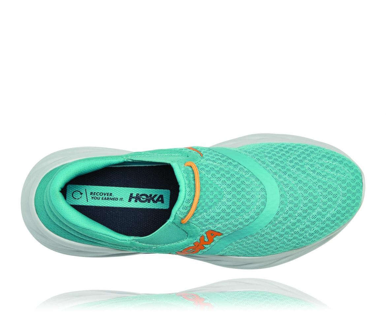 Hoka Ora Recovery Shoes 2 נעלי גרב גברים אורה 2 בצבע טורקיז/כתום – #5