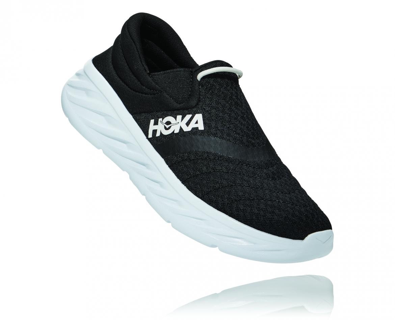 Hoka Ora Recovery Shoes 2 נעלי גרב הוקה אורה 2 בצבע שחור/לבן – #1