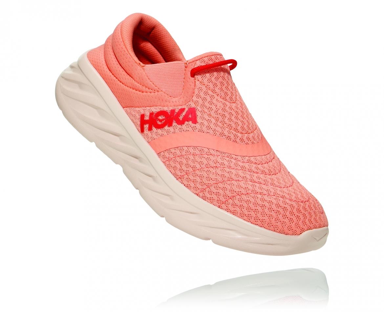 Hoka Ora Recovery Shoes 2 נעלי גרב נשים אורה 2 בצבע כתום/אדום פיאסטה – #1