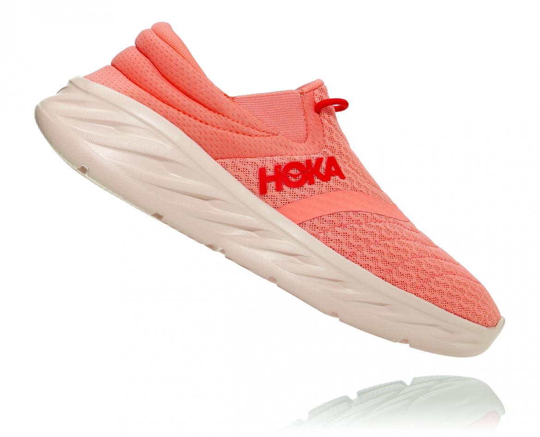Hoka Ora Recovery Shoes 2 נעלי גרב נשים אורה 2 בצבע כתום/אדום פיאסטה – #3