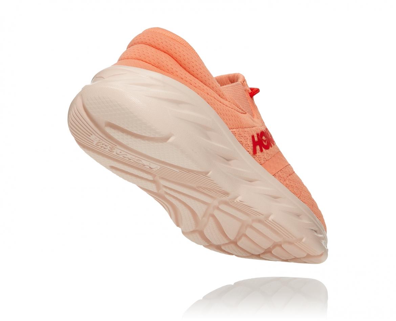 Hoka Ora Recovery Shoes 2 נעלי גרב נשים אורה 2 בצבע כתום/אדום פיאסטה – #2