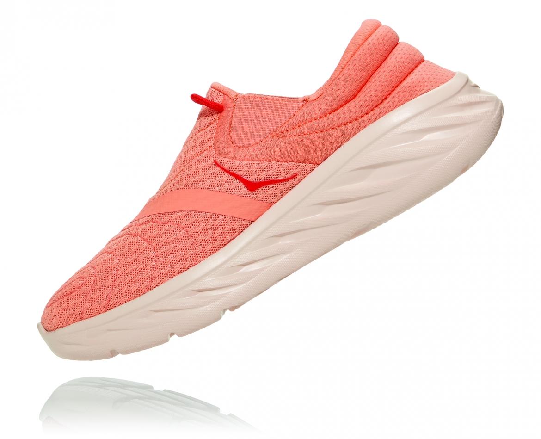 Hoka Ora Recovery Shoes 2 נעלי גרב נשים אורה 2 בצבע כתום/אדום פיאסטה – #4