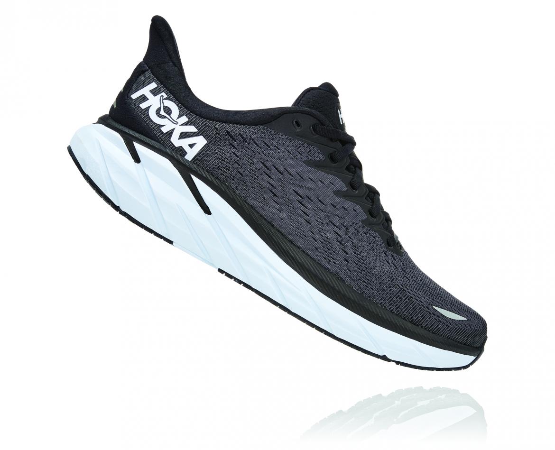 Hoka Clifton 8 - נעלי ספורט גברים הוקה קליפטון 8 בצבע שחור/לבן #3