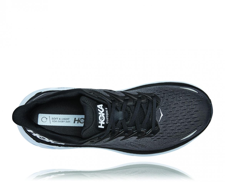 Hoka Clifton 8 - נעלי ספורט גברים הוקה קליפטון 8 בצבע שחור/לבן #5