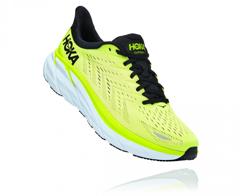 Hoka Clifton 8 - נעלי ספורט גברים הוקה קליפטון 8 בצבע צהוב/לבן #1