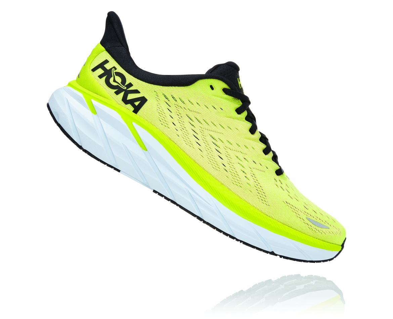 Hoka Clifton 8 - נעלי ספורט גברים הוקה קליפטון 8 בצבע צהוב/לבן #3