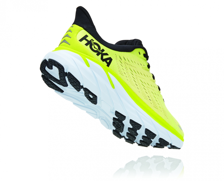 Hoka Clifton 8 - נעלי ספורט גברים הוקה קליפטון 8 בצבע צהוב/לבן #2