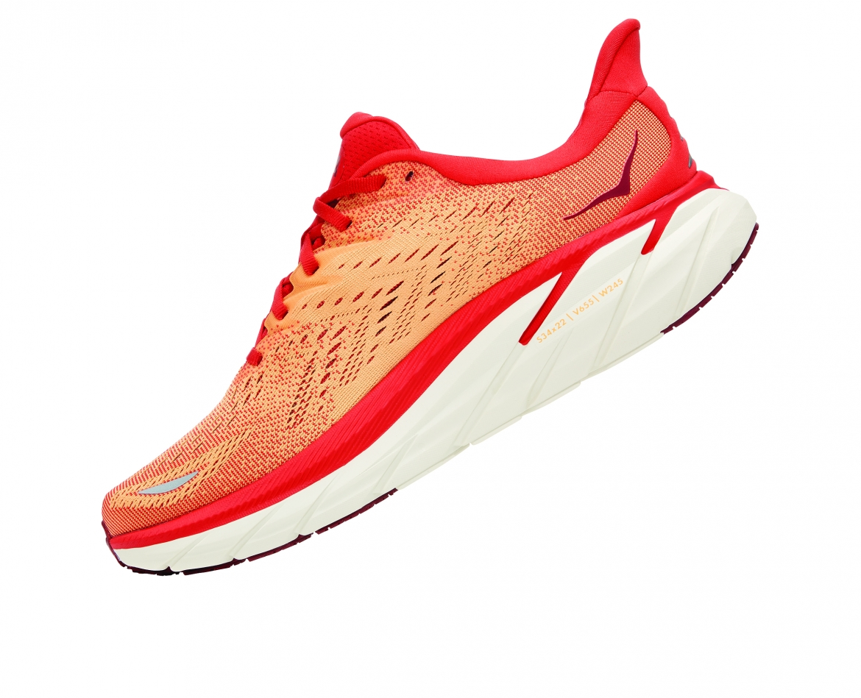 Hoka Clifton 8 - נעלי ספורט גברים הוקה קליפטון 8 בצבע פיאסטה/כתום #4
