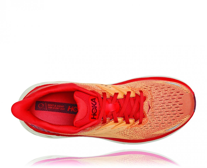 Hoka Clifton 8 - נעלי ספורט גברים הוקה קליפטון 8 בצבע פיאסטה/כתום #5