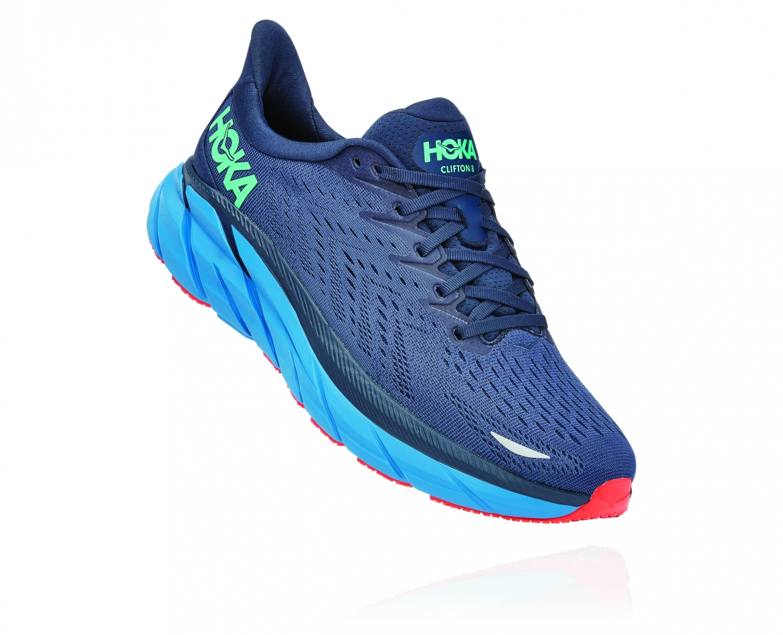 Hoka Clifton 8 - נעלי ספורט גברים הוקה קליפטון 8 בצבע נייבי/כחול #1