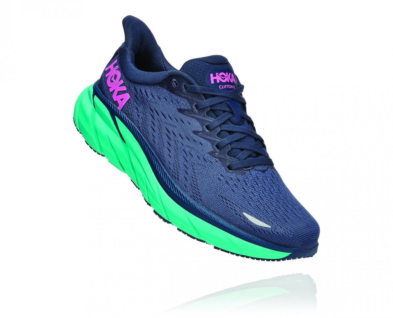 Hoka Clifton 8 - נעלי ספורט נשים הוקה קליפטון 8 בצבע כחול/טורקיז #1