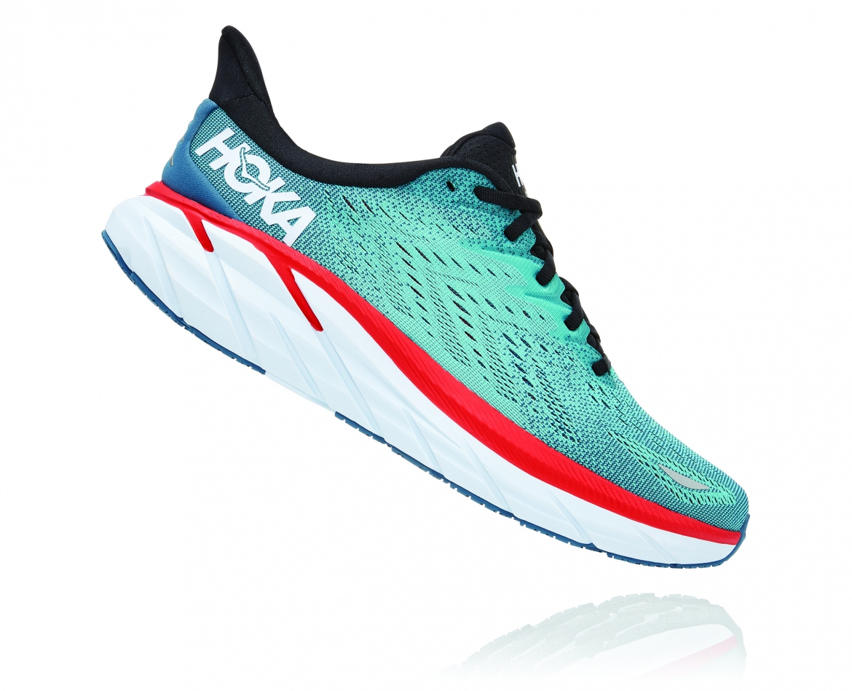 Hoka Clifton 8 Wide - נעלי ספורט גברים הוקה קליפטון 8 רחבות בצבע תכלת/טורקיז #3