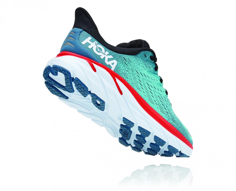 Hoka Clifton 8 Wide - נעלי ספורט גברים הוקה קליפטון 8 רחבות בצבע תכלת/טורקיז #2