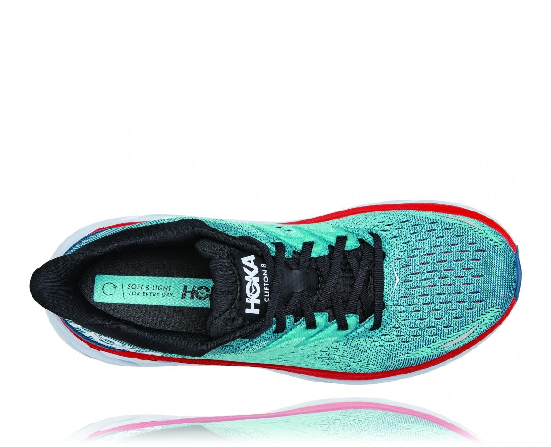 Hoka Clifton 8 Wide - נעלי ספורט גברים הוקה קליפטון 8 רחבות בצבע תכלת/טורקיז #5