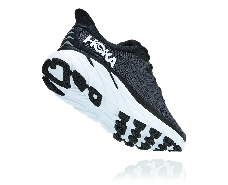 Hoka Clifton 8 Wide - נעלי ספורט נשים הוקה קליפטון 8 רחבות בצבע שחור/לבן #2