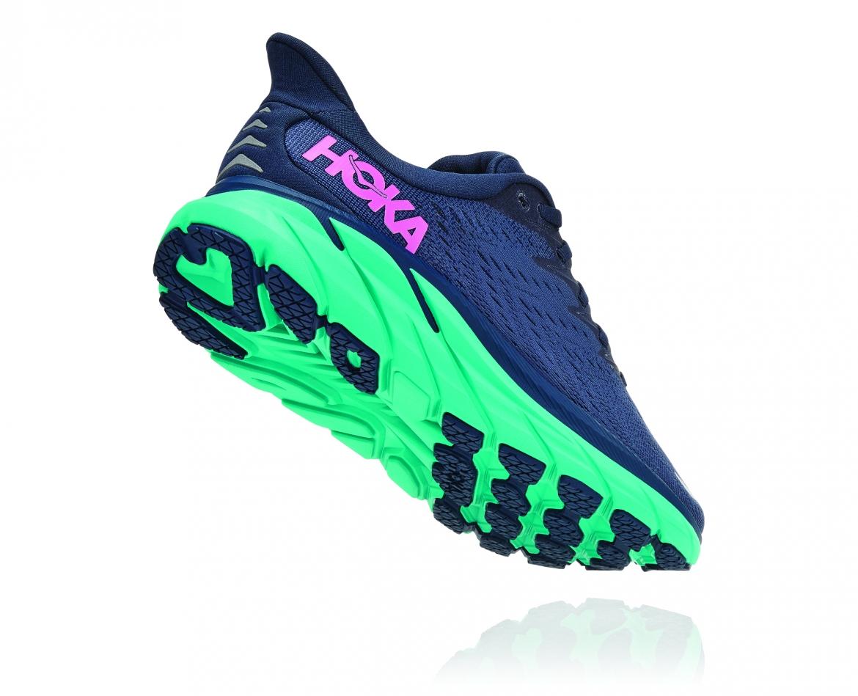 Hoka Clifton 8 Wide - נעלי ספורט נשים הוקה קליפטון 8 רחבות בצבע כחול/טורקיז #2