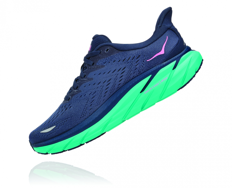 Hoka Clifton 8 Wide - נעלי ספורט נשים הוקה קליפטון 8 רחבות בצבע כחול/טורקיז #4