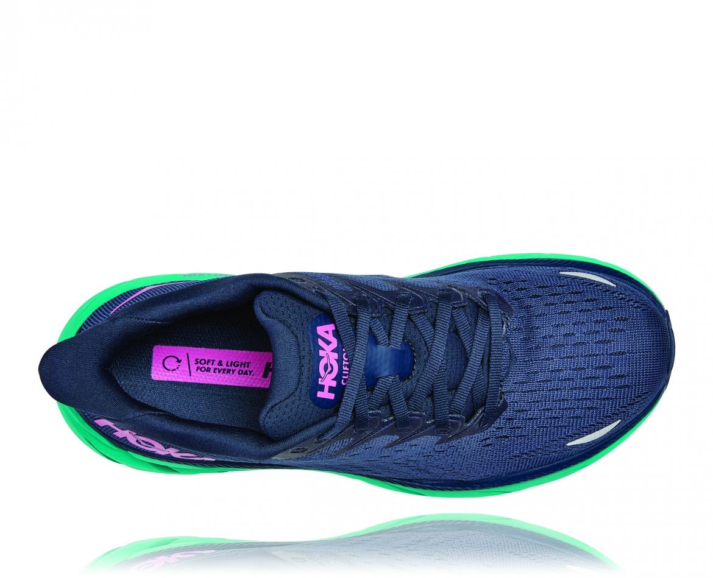 Hoka Clifton 8 Wide - נעלי ספורט נשים הוקה קליפטון 8 רחבות בצבע כחול/טורקיז #5