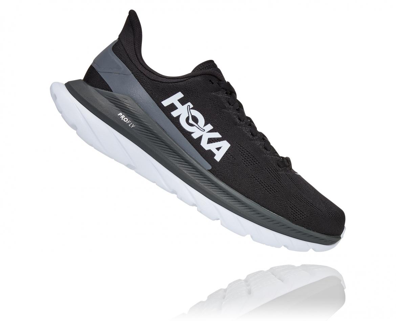 Hoka Mach 4 - נעלי ספורט גברים הוקה מאכ 4 בצבע שחור כהה/לבן/שחור #3