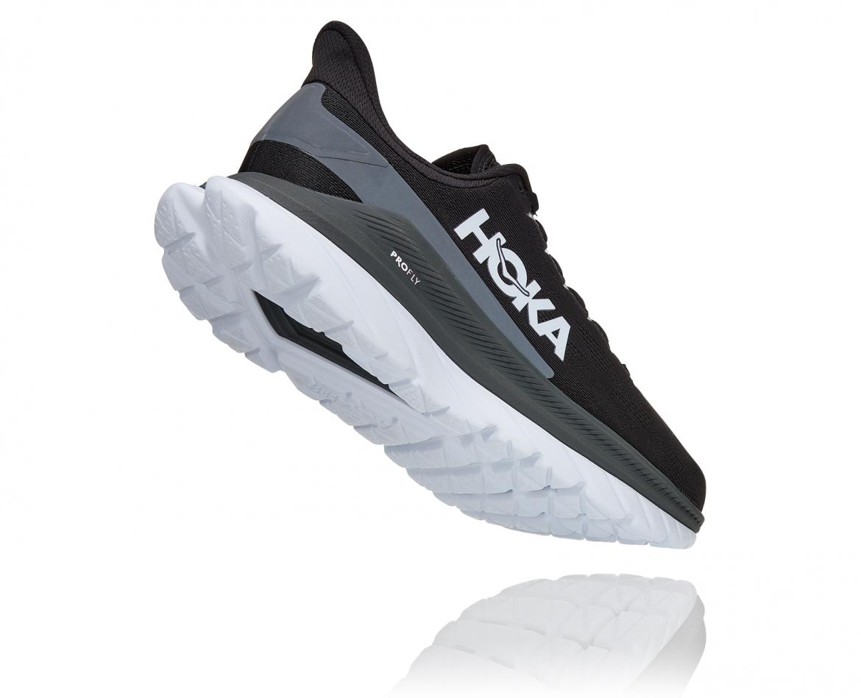 Hoka Mach 4 - נעלי ספורט גברים הוקה מאכ 4 בצבע שחור כהה/לבן/שחור #2