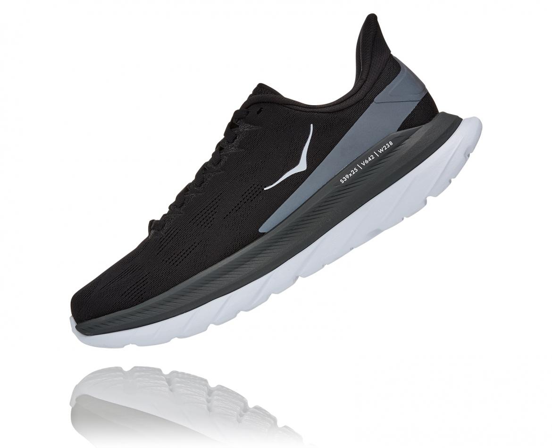Hoka Mach 4 - נעלי ספורט גברים הוקה מאכ 4 בצבע שחור כהה/לבן/שחור #4