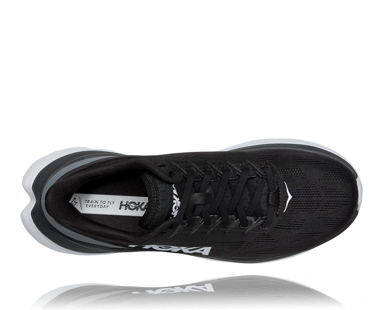 Hoka Mach 4 - נעלי ספורט גברים הוקה מאכ 4 בצבע שחור כהה/לבן/שחור #5