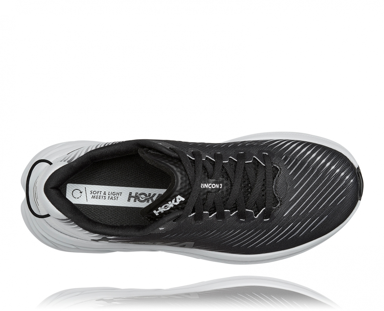 Hoka Rincon 3 - נעלי ספורט נשים הוקה רינקון 3 בצבע שחור/לבן #5