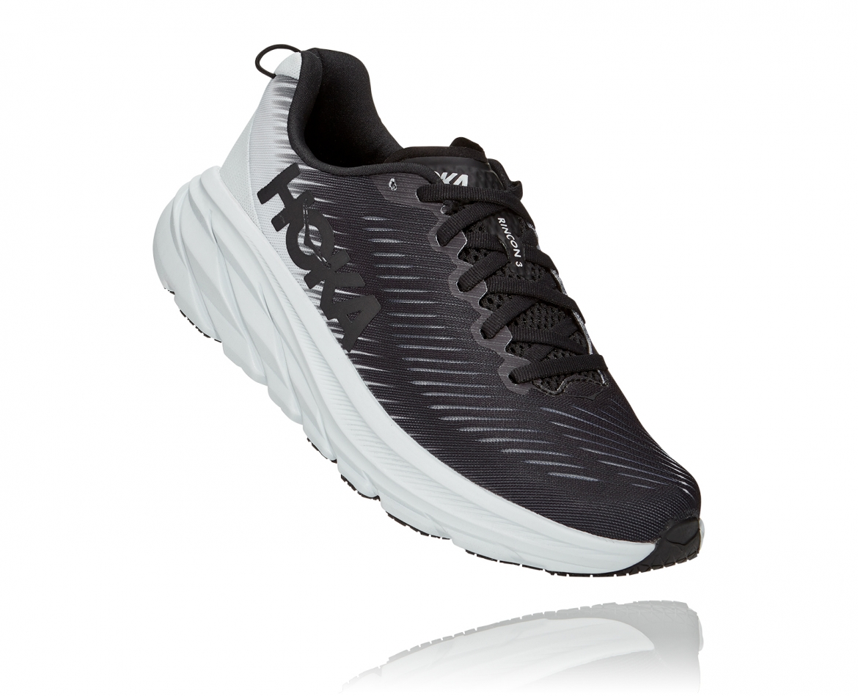 Hoka Rincon 3 Wide - נעלי ספורט נשים הוקה רינקון 3 רחבות בצבע שחור/לבן #1