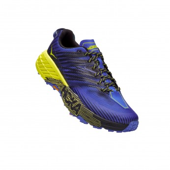 Hoka Speedgoat 4 Wide -נעלי ספורט גברים הוקה ספידגוט 4 רחבות בצבע סגול/שחור/צהוב
