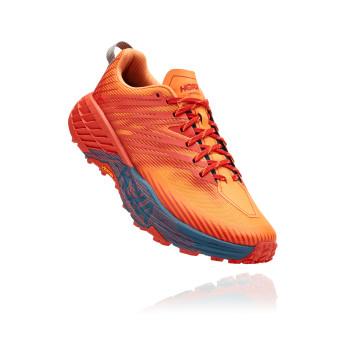 Hoka Speedgoat 4 - נעלי ספורט גברים הוקה ספידגוט 4 בצבע פיאסטה/כתום