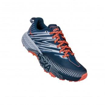 Hoka Speedgoat 4 Wide - נעלי ספורט הוקה ספידגוט רחבות לנשים בצבע כחול/כתום/אפור