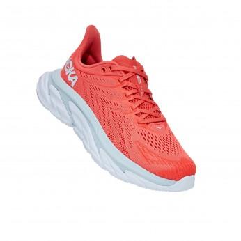 Hoka Clifton Edge  - נעלי ספורט נשים קליפטון אדג' בצבע כתום/לבן