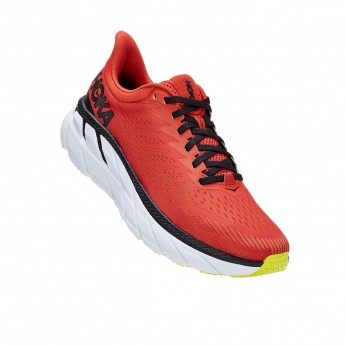 Hoka Clifton 7 - נעלי ספורט גברים הוקה קליפטון 7 בצבע כתום/לבן