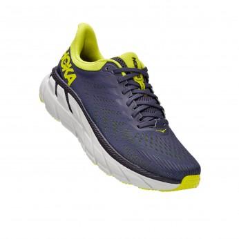 Hoka Clifton 7 - נעלי ספורט גברים הוקה קליפטון 7 בצבע כחול/לבן/צהוב