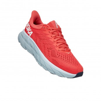 Hoka Clifton 7 - נעלי ספורט נשים הוקה קליפטון 7 בצבע כתום/לבן