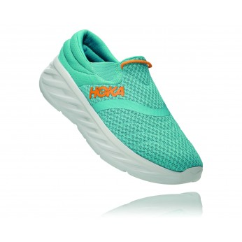 Hoka Ora Recovery Shoes 2 נעלי גרב גברים אורה 2 בצבע טורקיז/כתום –