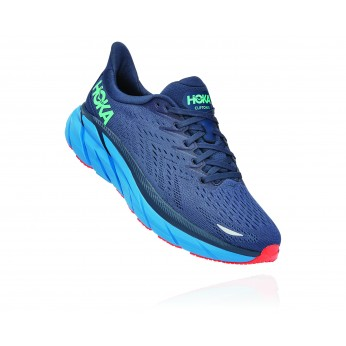Hoka Clifton 8 Wide - נעלי ספורט גברים הוקה קליפטון 8 רחבות בצבע נייבי/כחול