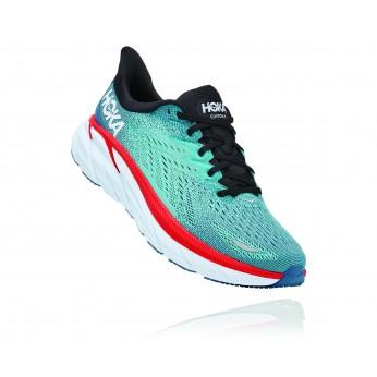 Hoka Clifton 8 Wide - נעלי ספורט גברים הוקה קליפטון 8 רחבות בצבע תכלת/טורקיז