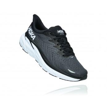 Hoka Clifton 8 Wide - נעלי ספורט נשים הוקה קליפטון 8 רחבות בצבע שחור/לבן