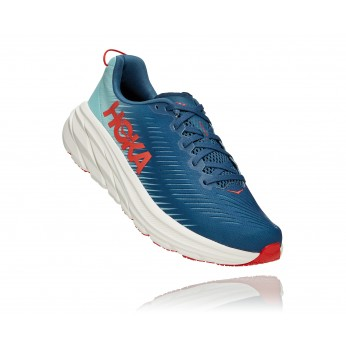 Hoka Rincon 3 Wide - נעלי ספורט גברים הוקה רינקון 3 רחבות בצבע כחול/טורקיז