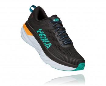 Hoka Bondi 7  -  נעלי ספורט גברים הוקה בונדי 7 בצבע שחור/טורקיז