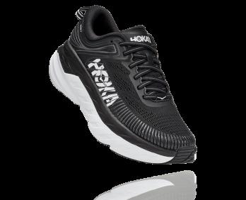 Hoka Bondi 7  - נעלי ספורט גברים הוקה בונדי 7 בצבע שחור/לבן