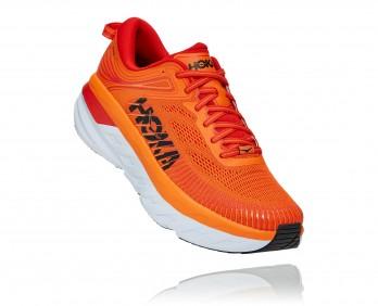Hoka Bondi 7 - נעלי ספורט גברים הוקה בונדי 7 בצבע כתום