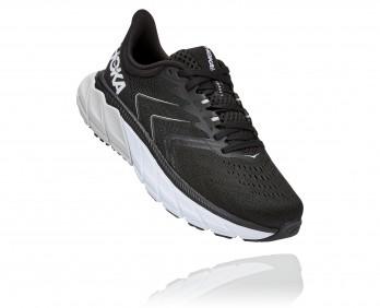 Hoka Arahi Wide 5 - נעלי ספורט נשים הוקה ארהי 5 רחבות בצבע שחור/לבן