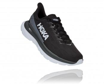 Hoka Mach 4 - נעלי ספורט גברים הוקה מאכ 4 בצבע שחור כהה/לבן/שחור